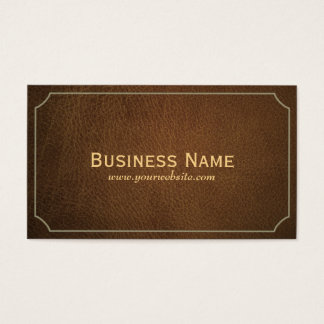 Classic Tan Leather Interpreter Business Card