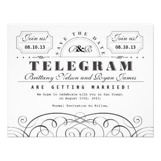 Classic Telegram Save the Date Invite