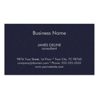Classic Textured Blue Financial Consultant Pack Of Standard Business Cards