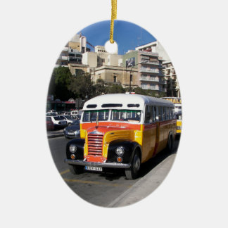 Classic Thames Bus on the streets. Christmas Ornament