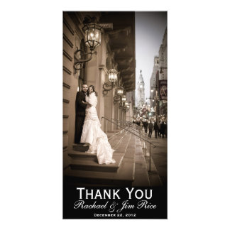 Classic Thank You Card Customized Photo Card