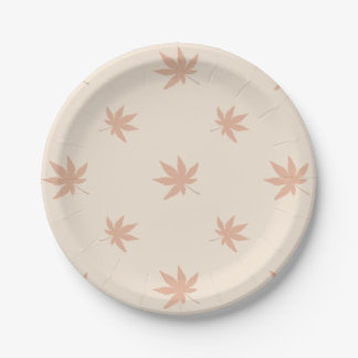 Classic Thanksgiving Autumn Leaves 7 Inch Paper Plate