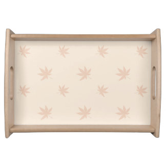Classic Thanksgiving Autumn Leaves Serving Tray