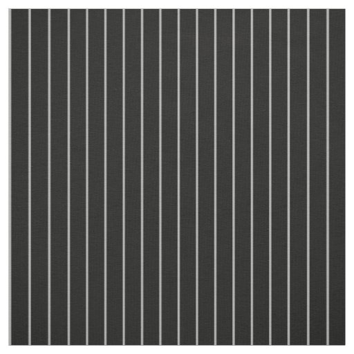 Classic Thin Grey Black Pinstripe Striped Pattern Fabric