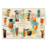 Classic Tiki Cocktail menu card