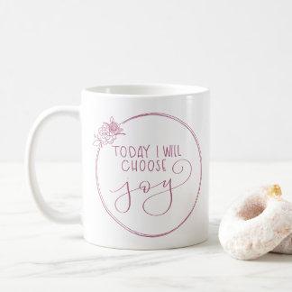 Classic Today I will choose joy floral wreath mug