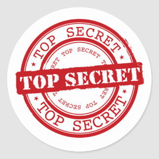 Classic Top Secret Seal Round Sticker