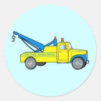 Classic Tow Truck Round Sticker