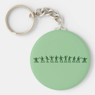 Classic Toy Soldiers Basic Round Button Key Ring