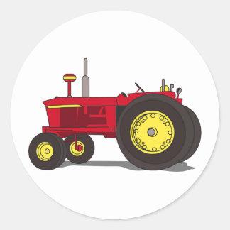 Classic tractor classic round sticker