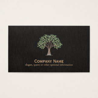 Classic Tree Logo Business Card