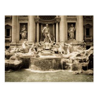 Classic Trevi Fountain, Rome Postcard