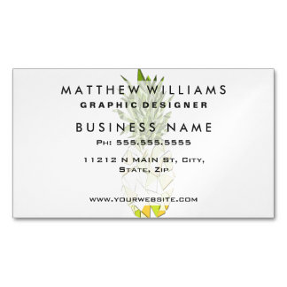 Classic Tropical Geometric Triangles Pineapple Magnetic Business Card