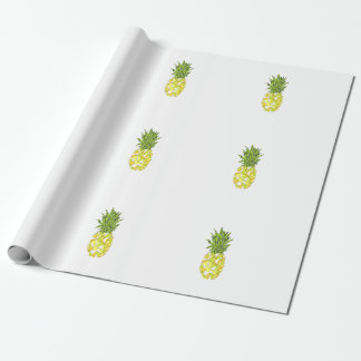 Classic Tropical Geometric Triangles Pineapple Wrapping Paper