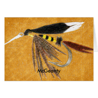 Classic Trout Fly  Card