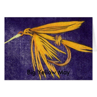 "Classic Trout Fly  Card ""Big Yellow May"""