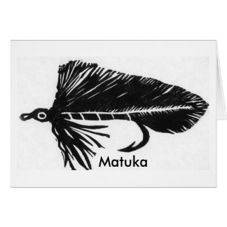 """Classic Trout Fly  Card """"Black Matuka"""""""