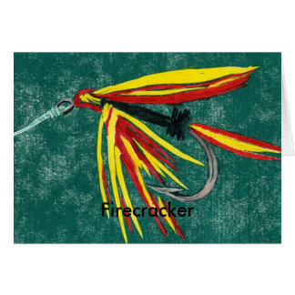 """Classic Trout Fly  Card """"Firecracker"""""""