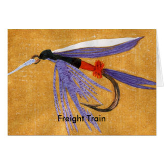 """Classic Trout Fly  Card """"Freight Train"""""""