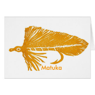 "Classic Trout Fly  Card ""Golden Matuka"""