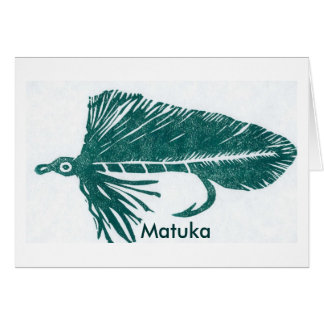 """Classic Trout Fly  Card """"Green Matuka"""""""