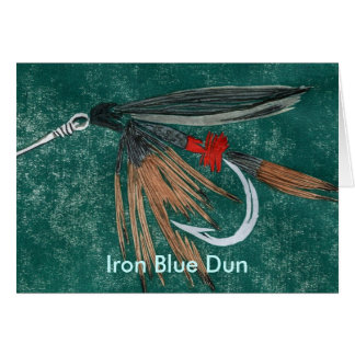 "Classic Trout Fly  Card ""Iron Blue Dun"""