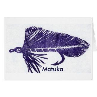 "Classic Trout Fly  Card ""Purple Matuka"""
