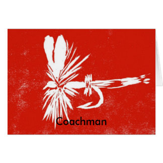"Classic Trout Fly  Card ""Red Coachman"""