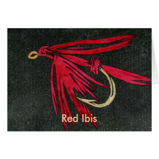 """Classic Trout Fly  Card """"red ibis"""""""