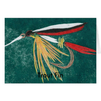 """Classic Trout Fly  Card """"trout fin"""""""