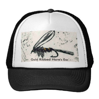 """Classic Trout Fly Hat """"Gold Ribbed Hare's Ear"""" wet"""