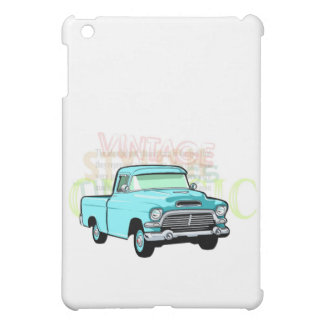 Classic truck in blue, very old semi pickup iPad mini cover