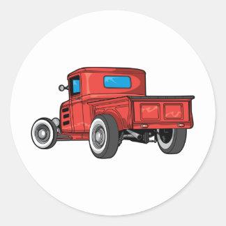 Classic Truck Round Sticker