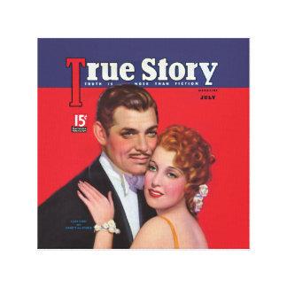 Classic True Story Magazine Covers Canvas Print