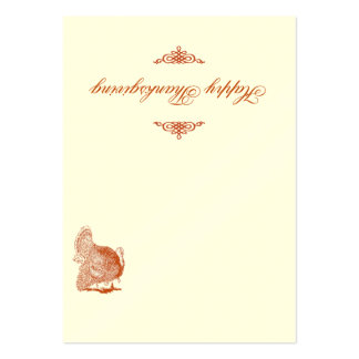 Classic Turkey Thanksgiving Place Card Business Card Templates
