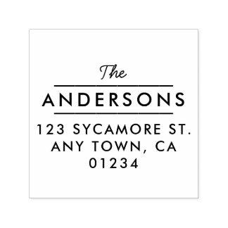 Classic Type Return Address Stamp