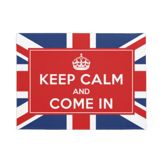 Classic UK Union Flag - Keep Calm and Come in Doormat