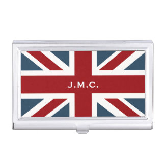 Classic Union Jack Flag Business Card Case