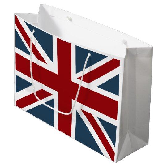 Classic Union Jack Flag Customised Large Gift Bag