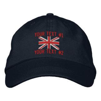 Classic Union Jack Flag England Swag Embroidery Baseball Cap