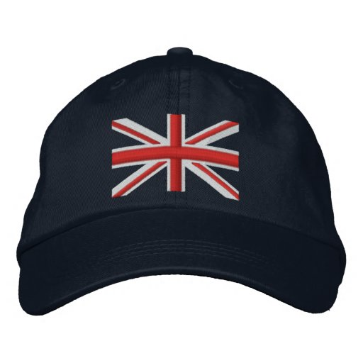 Classic Union Jack Flag England Swag Embroidery Embroidered Baseball Caps