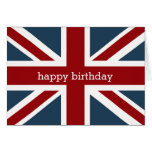 Classic Union Jack Flag Happy Birthday 2 Greeting Card