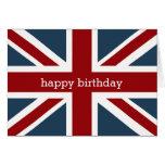 Classic Union Jack Flag Happy Birthday 2 Greeting Card