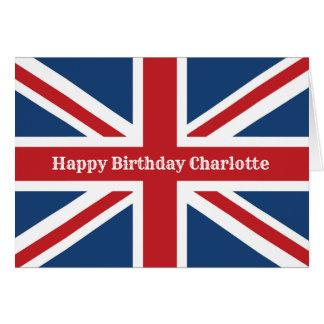 Classic Union Jack Flag Happy Birthday Card
