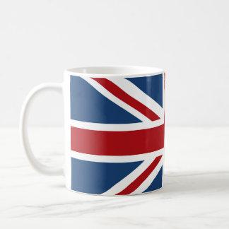 Classic Union Jack UK Flag Basic White Mug