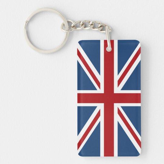 Classic Union Jack UK Flag Key Ring