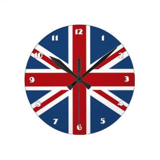 Classic Union Jack UK Flag Wall Clocks