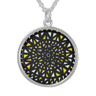 Classic Unique Dazzling Modern Round Pendant Necklace