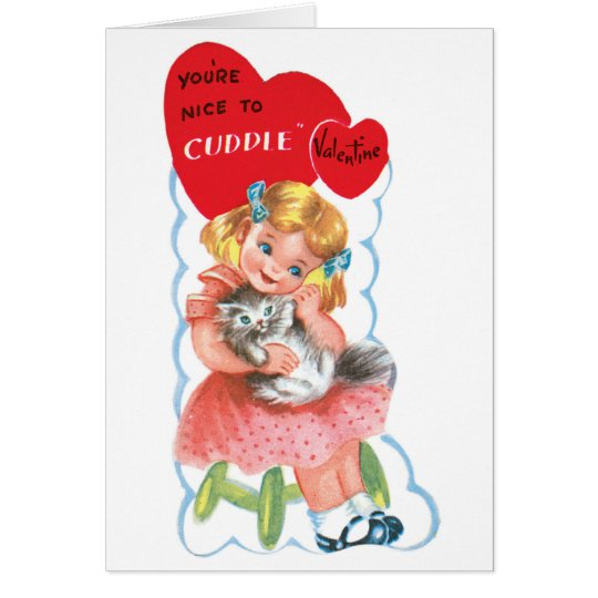 Classic Valentine Cuddle Greeting Card