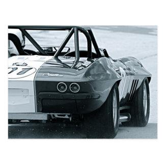 Classic Vet Racer Postcard